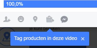 Facebook: tag producten in je video